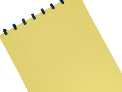 Disc-bound A4 Legal Books and Pads with yellow paper, ruled with lines or squares