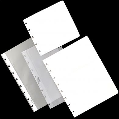 Pocket pages for disc-bound notebooks