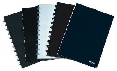 Pro style notebooks with serious-looking covers, matching discs and white 90gsm paper