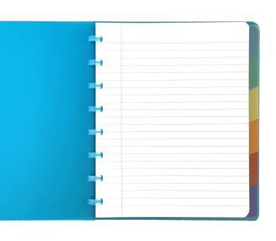 A5+Plus Techno Notebook with White Lined Pages and Tabbed Dividers