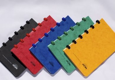 A6 6-Disc Traditional Pocket Notebook with White Lined Pages
